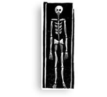 Late Medieval Woodcut of Skeleton in Coffin Canvas Print