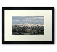 Sacre Coeur from the top of Notre Dame Framed Print