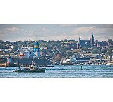 Harbor Activity Photographic Print