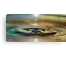 Droplet rising Canvas Print