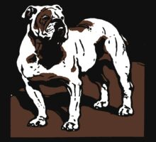 Victorian Woodcut English Bulldog by Pixelchicken