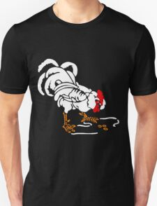 Victorian Woodcut White Rooster T-Shirt