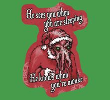 Cthulhu Claus Is Coming to Town One Piece - Short Sleeve