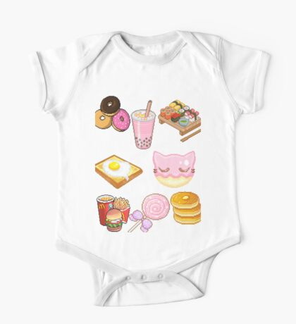 Pixeled foods One Piece - Short Sleeve