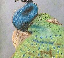 Melting Peacock  by hellokittysailo