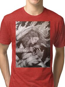Jean and Logan Phoenix and Wolverine Tri-blend T-Shirt