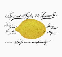 Antique Lemon Advertisement by Pixelchicken