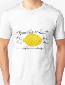 Antique Lemon Advertisement Unisex T-Shirt