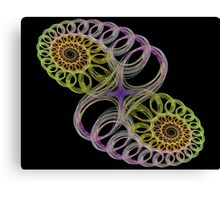 Crystal Spiral Canvas Print