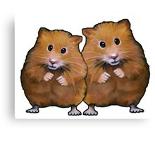 Hamster Couple, Cute Whimsical Art, Two Hamsters Canvas Print