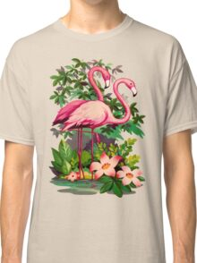 Retro Pink Flamingos Classic T-Shirt