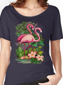 Retro Pink Flamingos Women's Relaxed Fit T-Shirt