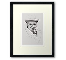 Mr. Churchill Framed Print