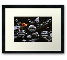 IT'S BUBBLE TIME Framed Print