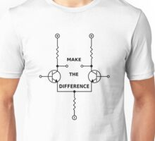 Differential Amplifier - Make the Difference! Unisex T-Shirt