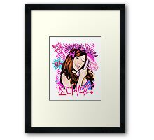 SNSD Tiffany Beep Beep design Framed Print