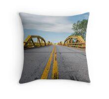 William H. Murray Bridge (a.k.a. Pony) Bridge on Route 66, Geary, OK Throw Pillow