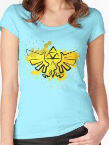 Hyrule Crest Splat Women's Fitted Scoop T-Shirt