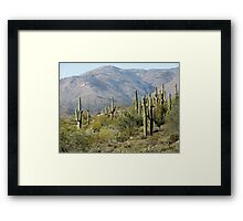 Standing Around Framed Print