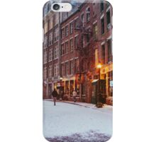 Stone Street in the Snow - New York City iPhone Case/Skin