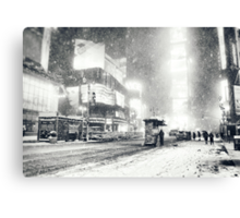 Times Square - Snow - New York City Canvas Print