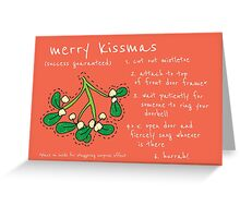 Mistletoe Christmas Greeting Card