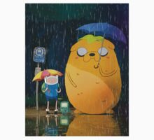 Totoro scene with Adventure Time Characters by TotoroXkawaii
