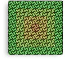 Seamless Geometric In Ochre, Lime and Green Canvas Print