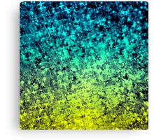 OMBRE LOVE Colorful Midnight Blue Lime Green Citrine Galaxy Print Space Painting Canvas Print