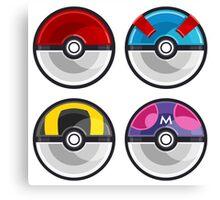 Pokemon Poké Balls Canvas Print