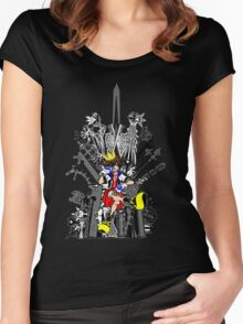 Kingdom Hearts: Game of Hearts Color Women's Fitted Scoop T-Shirt
