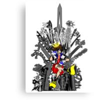 Kingdom Hearts: Game of Hearts Color Metal Print