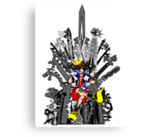 Kingdom Hearts: Game of Hearts Color Canvas Print