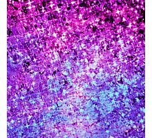 RADIANT ORCHID GALAXY Colorful Plum Purple Royal Blue Elegant Starry Galactic Print Abstract Painting Photographic Print