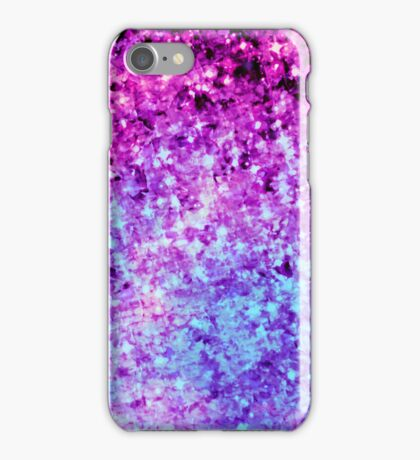 RADIANT ORCHID GALAXY Colorful Plum Purple Royal Blue Elegant Starry Galactic Print Abstract Painting iPhone Case/Skin