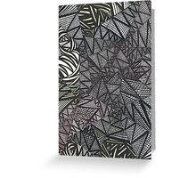 Soothing Black lines and bit of white Greeting Card