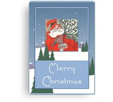 A Traditional Merry Christmas Greeting Canvas Print