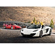 F40 and MP4-12C Spider Photographic Print