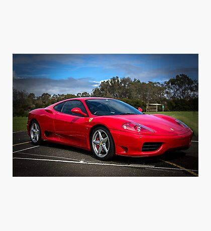 The Red Ferrari Photographic Print