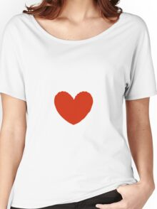 Lovely Heart, Imperfect Heart Women's Relaxed Fit T-Shirt