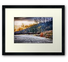 Beach sunset at Scarborough Bluffs Framed Print