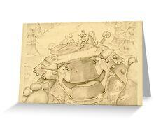 Ankylosaur Sledding Greeting Card
