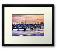 Floating homes at Bluffers park marina Framed Print