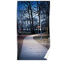 Park path at dusk Poster