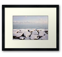 Winter shore of lake Ontario Framed Print