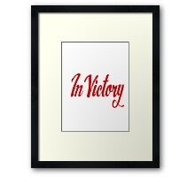 In Victory Framed Print