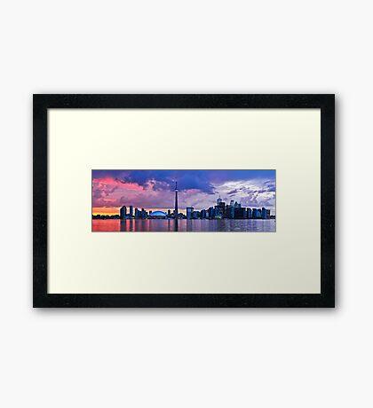 Toronto skyline panorama Framed Print