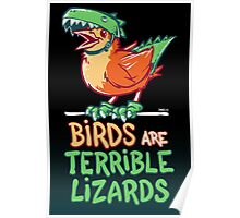 Birds Are Terrible Lizards Poster