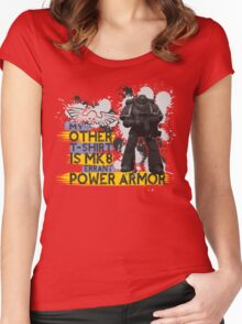 My Other T-Shirt Is Power Armor 3 Women's Fitted Scoop T-Shirt
