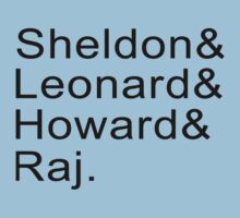 Sheldon & Leonard & Howard and Raj Kids Clothes